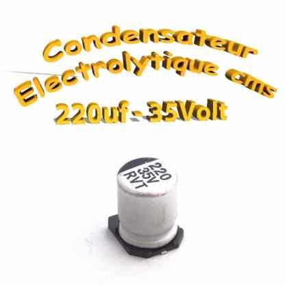 Condensateur électrolytique CMS - SMD 220uF 35v