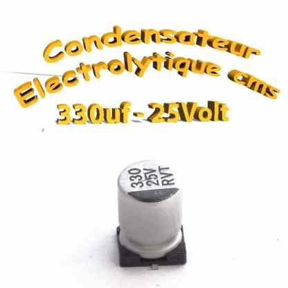 Condensateur électrolytique CMS - SMD 330uF 25v