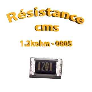 Résistance cms 0805 1,2kohm 1% 1/8w