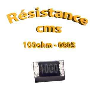 Résistance cms 0805 100ohm 1% 1/8w
