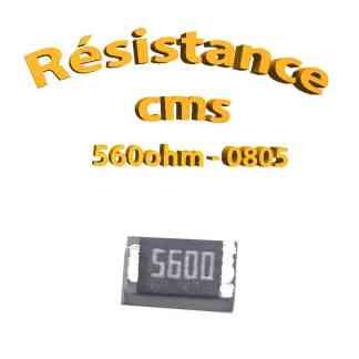 Résistance cms 0805 560ohm 1% 1/8w