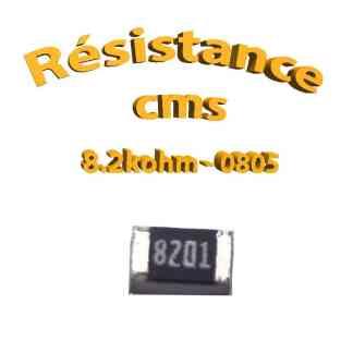 Résistance cms 0805 8.2kohm 1% 1/8w