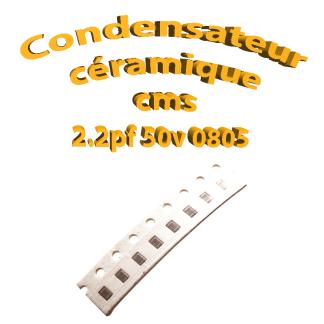 Condensateur ceramique 2.2pf - 50v -10 % - 0805