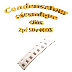 Condensateur ceramique 2pf - 50v -10 % - 0805
