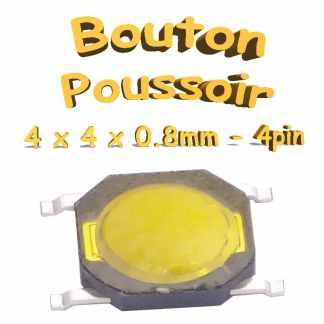 Bouton Poussoir 4x4x0.8mm - 4pin - à souder pour CI