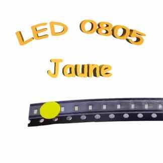 LED 0805 jaune - 1.8-2V - 20mA - CMS/SMD