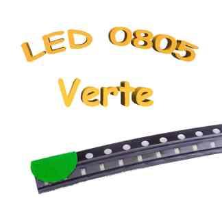 LED 0805 verte - 3.0-3.2V - 5mA