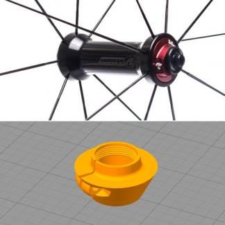 Pièce de rechange vélo - Moyeu Roue VISION - Imprimer en 3D carbone