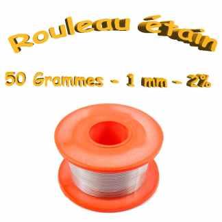 Rouleau étain 2% - 50 grammes - diamètre 1mm
