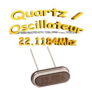 Oscillateur / Quartz 22.1184Mhz- HC-49s