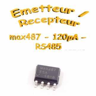 Max 487 - Émetteur / Récepteur RS485 - 120µA