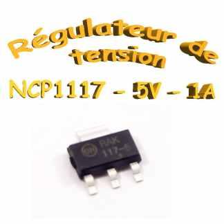NCP1117 - Régulateurs de tension 1,0 A ajustables - Sot 223