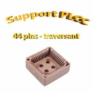 Support PLCC44 - 1A - 260° - traversant