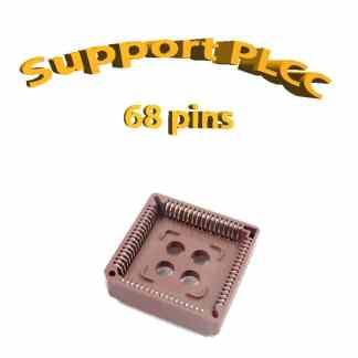 Support PLCC68 - 1A - 260° - traversant