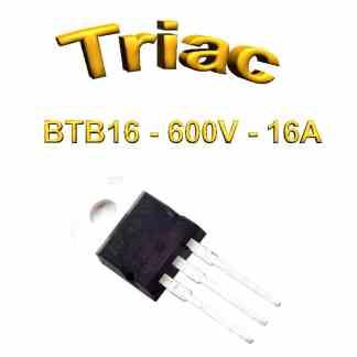 BTB16 600V, 16A, 50ma THT, TO220