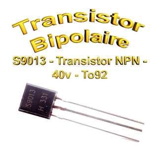 S9013- Transistor NPN - 40v - 0,5 A - To92