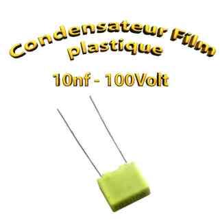 Condensateur à film plastique 10nF 0.01uf 100V