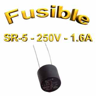 Fusible Temporisé Radial 1,6A 250v buss sr5 - 5,08mm