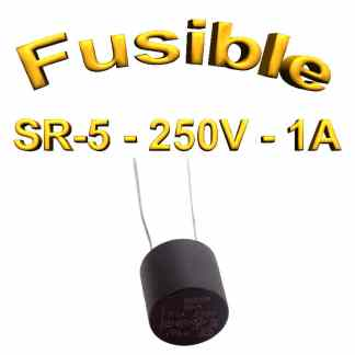 Fusible Temporisé Radial 1A 250v buss sr5 - 5,08mm