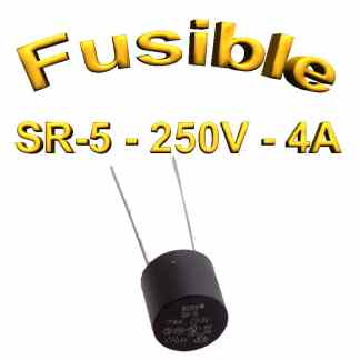 Fusible Temporisé Radial 4A 250v buss sr5 - 5,08mm