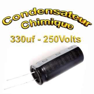 Condensateur chimique 330uF - 250V - 18x45mm - 20%
