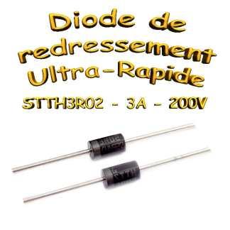 STTH3R02 - Diode redressement - 3A - 200V - 110A