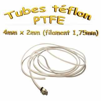 Tubes teflon 2x4mm PTFE Extrudeur Bowden - intérieur: 2mm X extérieur: 4mm