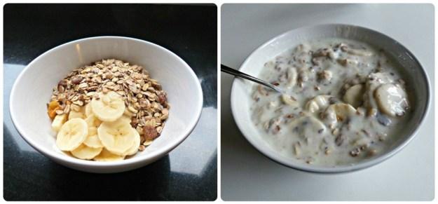 Collage ontbijt