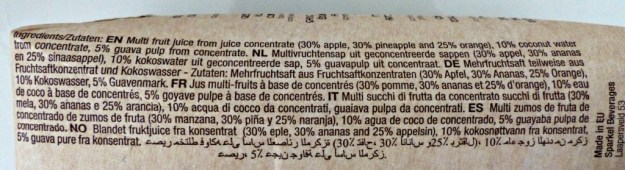 Ingredienten sap