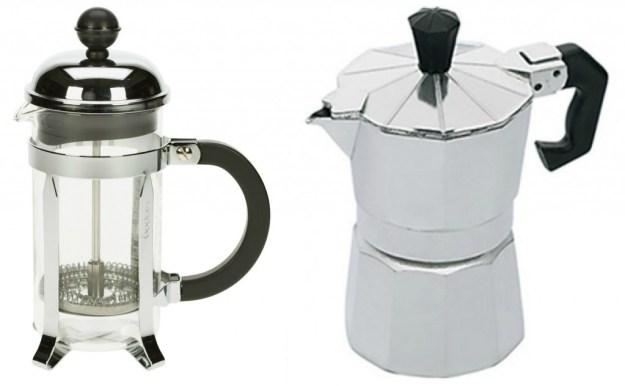 Collage koffiepotten