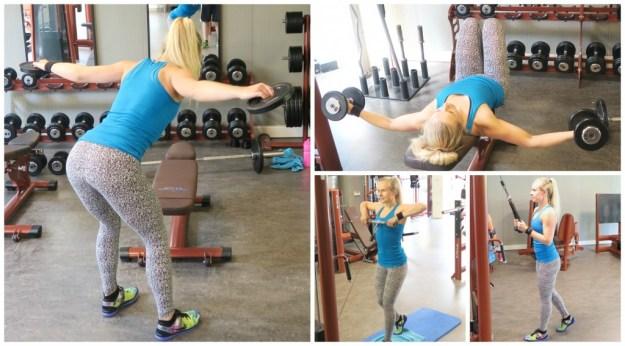 Sportschool workout bovenlichaam