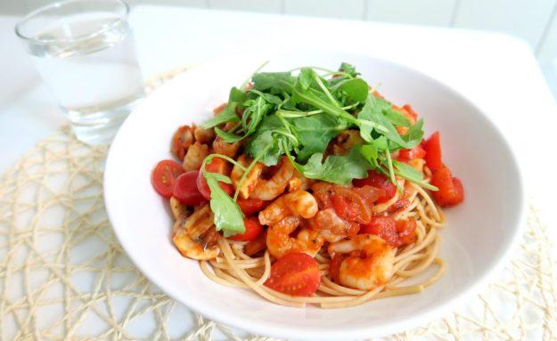 gezonde-pasta-met-garnalen