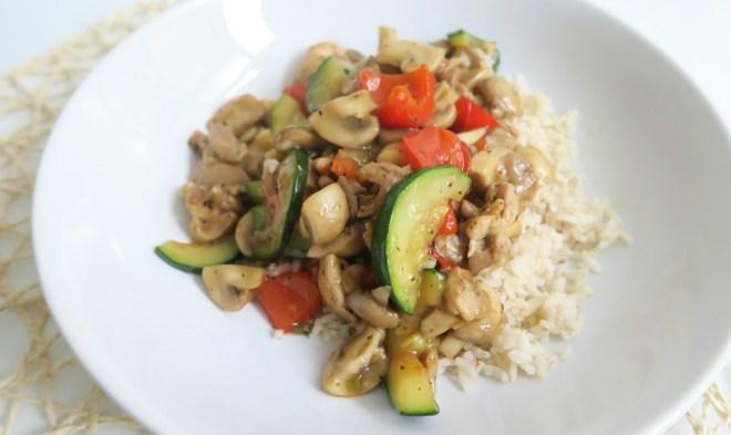 rijst kip groenten ketjap