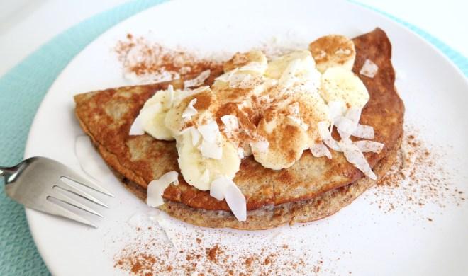 zoete omelet met banaan