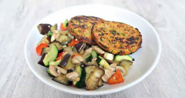 vegaburger met groenten