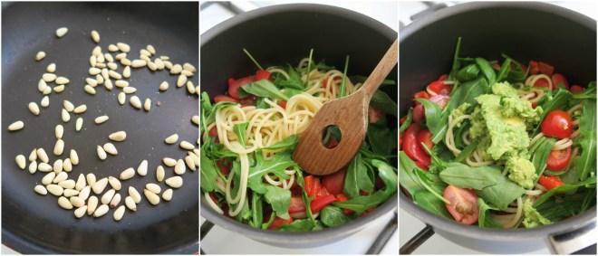 Spaghetti met avocado