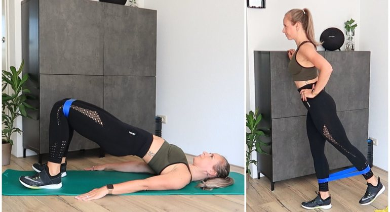 Benen en billen workout met elastiek
