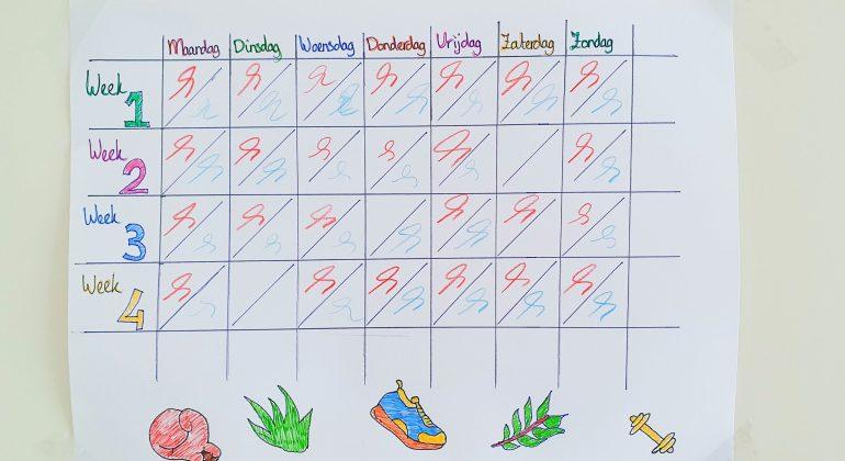 6 dagen per week bewegen