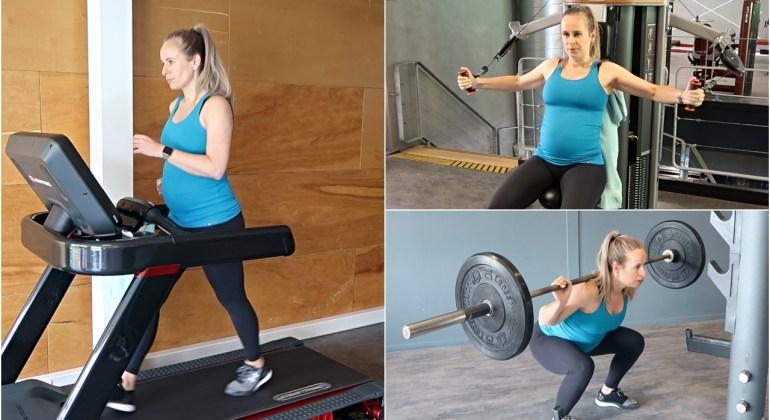 Fitness workout zwangerschap