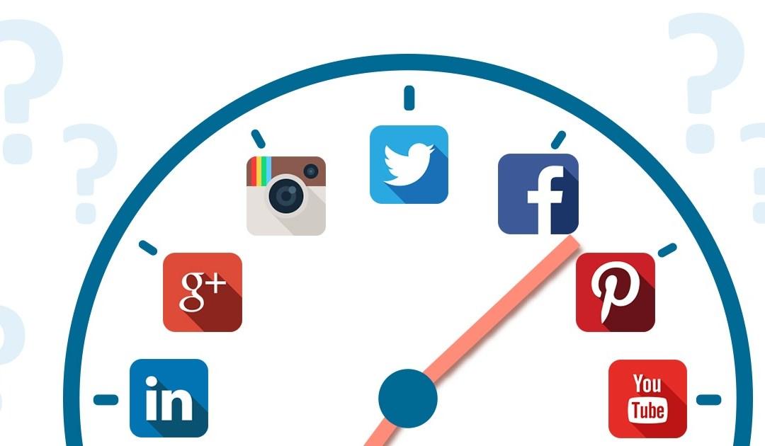 Las horas de mayor impacto en redes sociales
