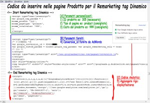 Remarketing tag dinamico