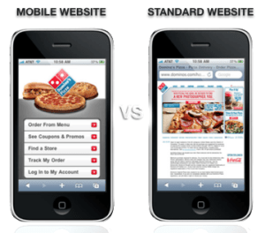 mobile website versus desktop website