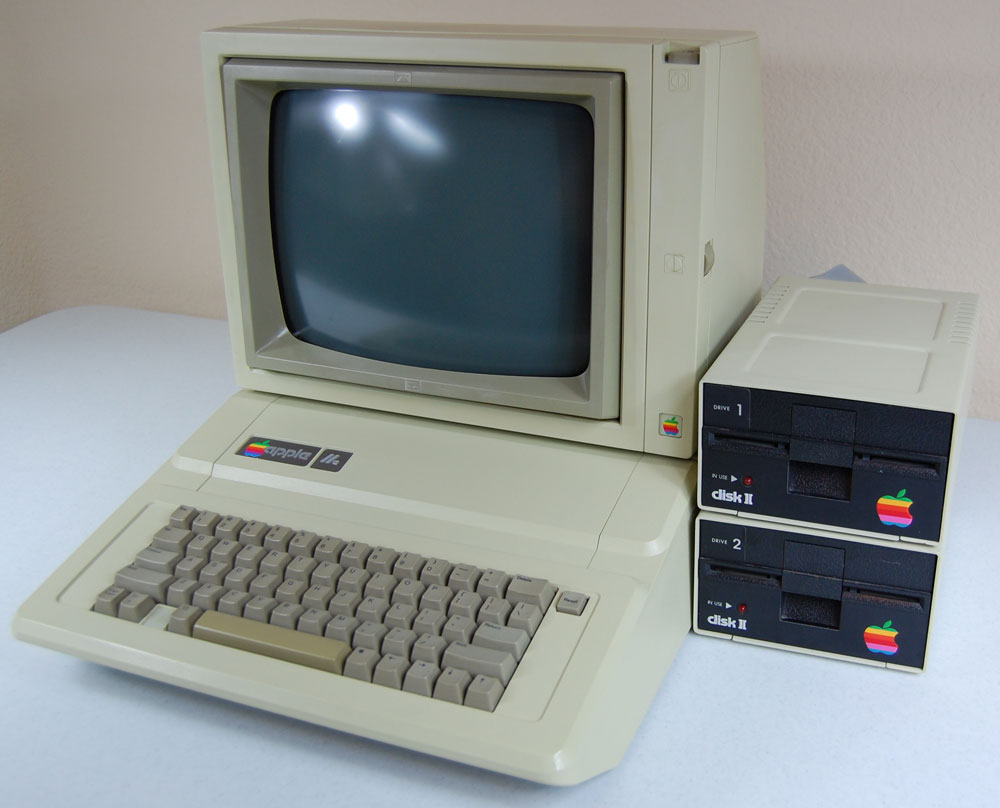 Le légendaire Apple II sorti en 1977