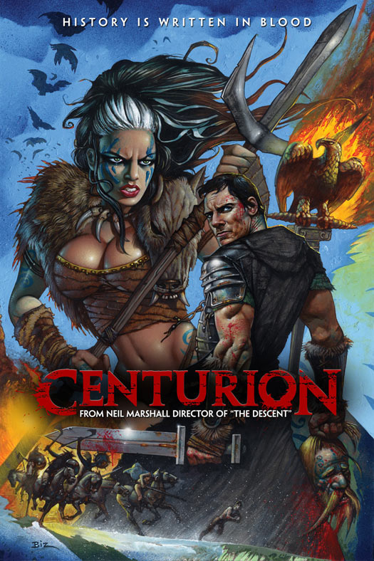 simon bisley painting for Centurion movie