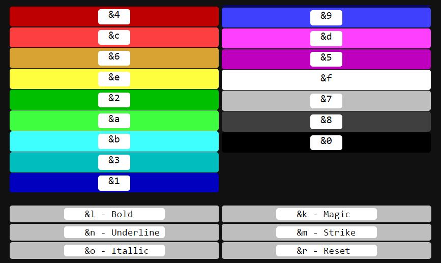 как писать цветными буквами в майнкрафт 1.8 #3