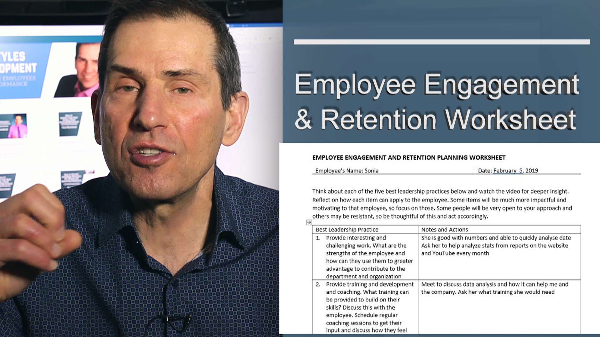 Employee Engagement And Retention Planning Worksheet