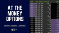 What are at the money options?