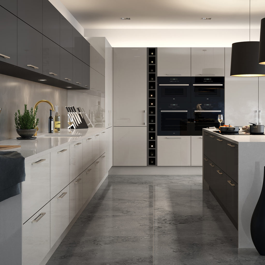 Black And White Kitchen Designs Optiplan Kitchen