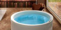 Runde Badewanne freistehend aufgestellt - Optirelax Blog