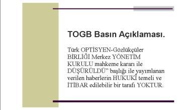 Photo of TOGB Basın Açıklaması